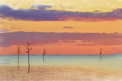 Photograph - Rock Harbor Sunset by Allen Beatty