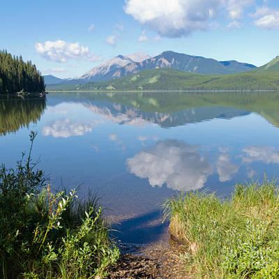 Rock Lake Alberta Canada And Willmore Wilderness Art Print