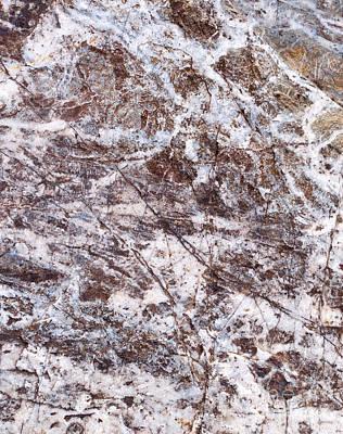Photograph - Rock Pattern Texture by Les Palenik