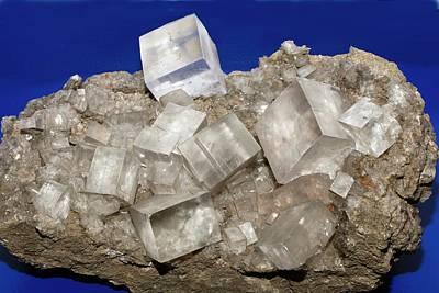 Crystalline Photograph - Rock Salt Crystals by Dirk Wiersma