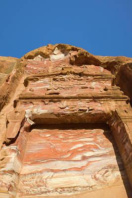 Rock Texture Of Cave Wall, Petra, Jordan Art Print by Keren Su