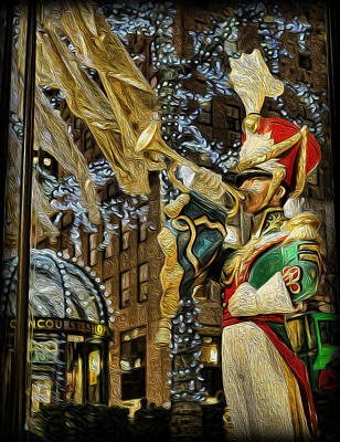 Rockefeller Center Bugle Boy Art Print by Lee Dos Santos