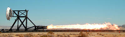 High Speed Photograph - Rocket-sled Test by Nasa