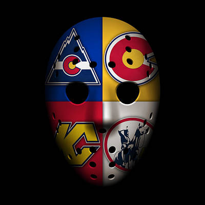 Rockies Goalie Mask Art Print by Joe Hamilton