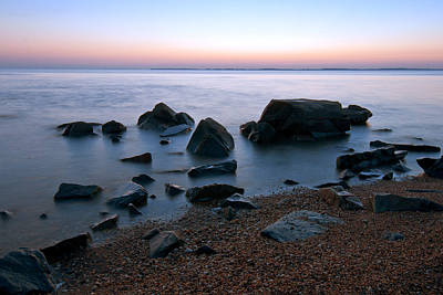 Chesapeake Bay Photograph - Rocks At Dawn On The Chesapeake by Benjamin DeHaven