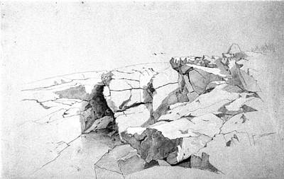 Rocks At Narragansett Painting - Rocks At Narragansett by William Stanley Haseltine