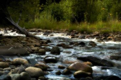 Rocky Digital Art - Rocky Mountain Stream by Ellen Heaverlo