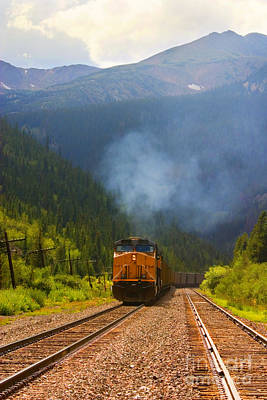 Photograph - Rocky Mountain Train by Steve Krull