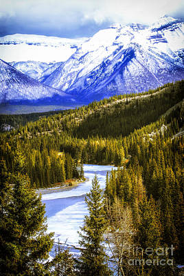 Mountain Royalty-Free and Rights-Managed Images - Rocky Mountains landscape by Elena Elisseeva