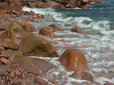 Photograph - Rocky Shoreline. Cape Breton. Nova Scotia. by Rob Huntley