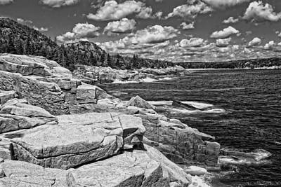 Otter Digital Art - Rocky Summer Seascape Acadia National Park Photograph by Keith Webber Jr