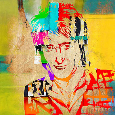 Rocks Mixed Media - Rod Stewart Collection by Marvin Blaine