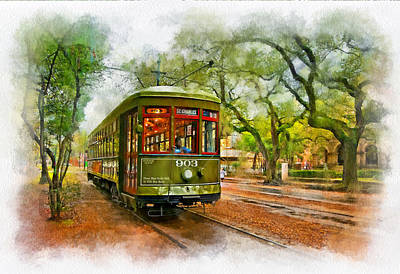 Live Oaks Digital Art - Rollin' Thru New Orleans 2 by Steve Harrington