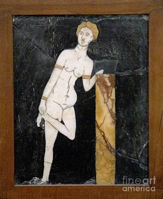 Marble Mosaic Photograph - Roman Mosaic Of Venus by Sheila Terry