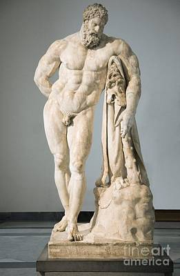 Roman Statue Of Hercules Art Print by Sheila Terry