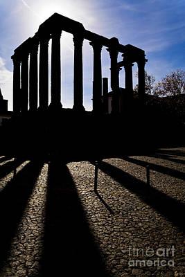Sanctuary Photograph - Roman Temple Silhouette by Jose Elias - Sofia Pereira
