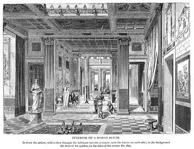 Painting - Roman Villa by Granger