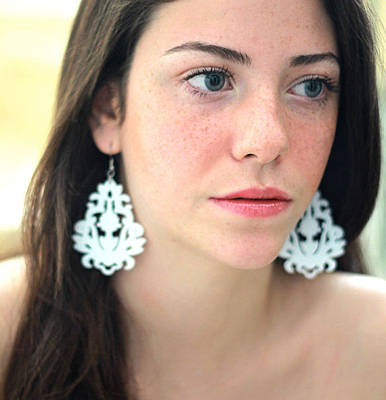 Perspex Jewelry Jewelry - Romantic Floral Statement Earrings by Rony Bank