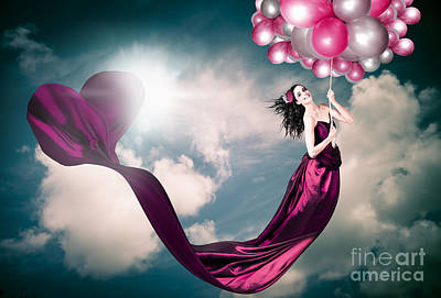 Photograph - Romantic Girl In Love With Beauty And Fashion by Jorgo Photography - Wall Art Gallery
