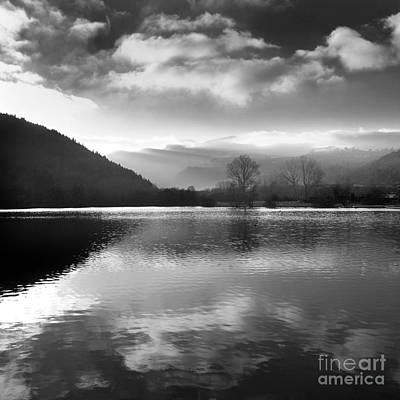 Bare Trees Photograph - Romantic Lake by Bernard Jaubert