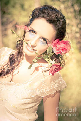 Candid Photograph - Romantic Rose Woman by Jorgo Photography - Wall Art Gallery
