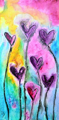 Romantico Jardin Art Print