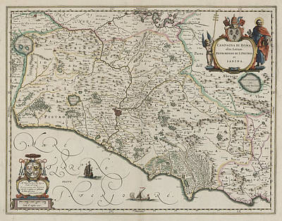 Cartographic Photograph - Rome by British Library