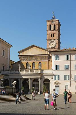 Trastevere Photograph - Rome, Italy. Santa Maria In Trastevere by Ken Welsh