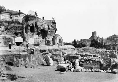 Palatine Photograph - Rome Palatine Hill by Granger