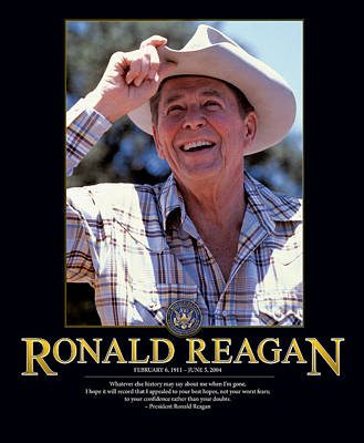 Politicians Photograph - Ronald Reagan by Retro Images Archive