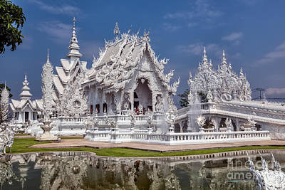 Temple Wall Art - Photograph - Rong Khun Temple by Adrian Evans