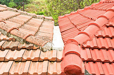 Clay Photograph - Roof Tiles by Tom Gowanlock