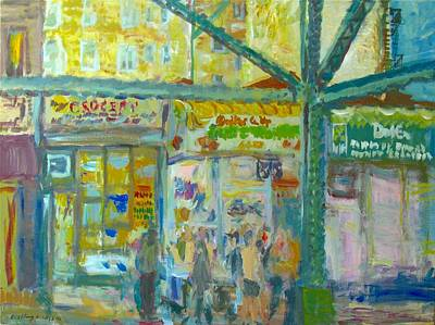 Painting - Roosevelt Avenue by Edward Ching