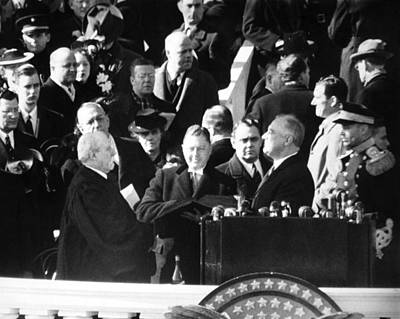 Franklin Delano Roosevelt Painting - Roosevelt Inauguration by Granger