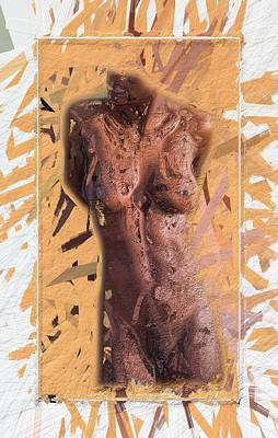 Abstract Female Torso Painting - Roots by Steve K