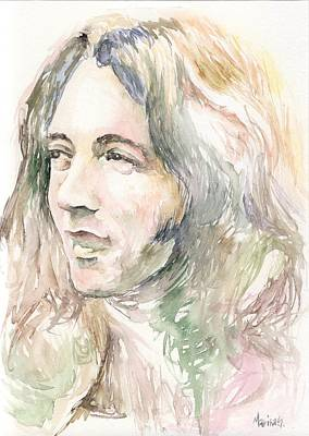 Bob Dylan Painting - Rory Gallagher by Marina Sotiriou