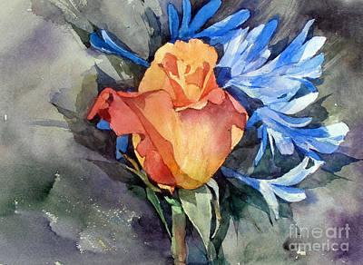 Painting - Rose by Natalia Eremeyeva Duarte