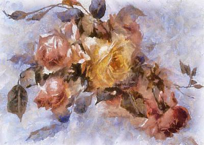 Digital Art - Roses by Charmaine Zoe