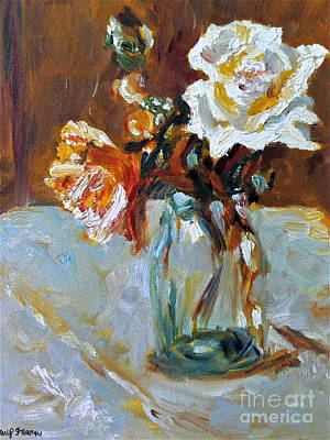 Painting - Roses In Vase by Amy Fearn