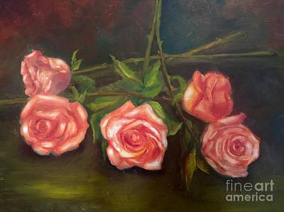 Painting - Roses by Irene Pomirchy