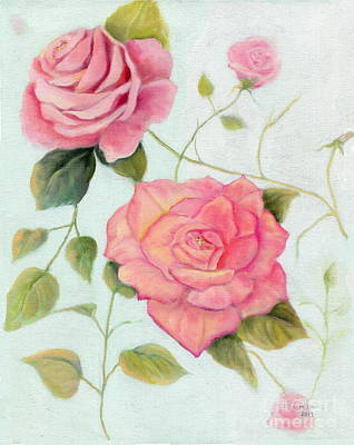Painting - Dianne's Roses by Marlene Book