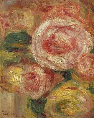 Roses Renoir Painting - Roses by Pierre-Auguste Renoir