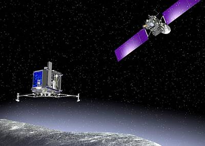 Rosetta Spacecraft Art Print by European Space Agency,j. Huart