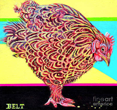 Midwest Artist Painting - Rosie The Chicken by Christine Belt