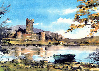 Painting - Ross Castle Killarney by Val Byrne