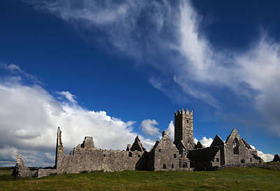 Ross Errilly Franciscan Friary 1351 Art Print by Panoramic Images
