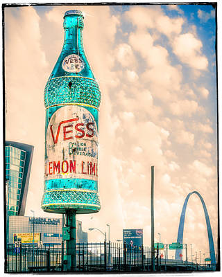 Rotating Vess Soda Bottle  Art Print
