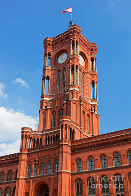 Photograph - Rotes Rathaus The Town Hall Of Berlin Germany by Michal Bednarek