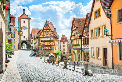 Rothenburg Ob Der Tauber Art Print by JR Photography