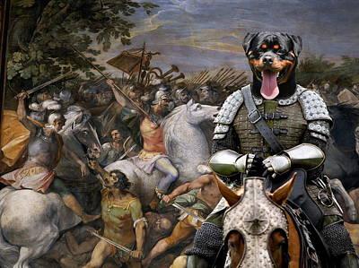 Painting - Rottweiler Art Canvas Print by Sandra Sij